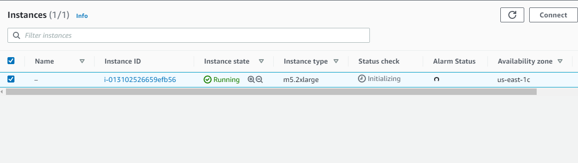 Instance on EC2 Console